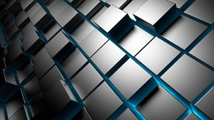 HD 1920x1080 Windows 10 wallpaper Metal Cubes 3D