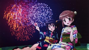 UHD 3840x2160 Windows 10 wallpaper Fireworks Anime