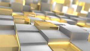 HD 1920x1080 Windows 10 wallpaper Gold and Silver 3D
