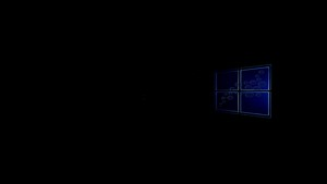 1366x768 Windows 10 wallpaper On Black Windows 10 logo