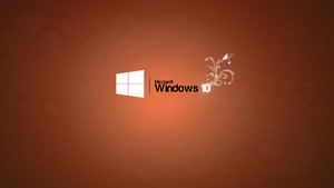 1366x768 Windows 10 wallpaper The Orange Windows 10 logo