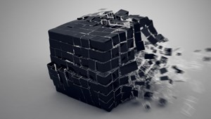 HD 1920x1080 Windows 10 wallpaper Cubic Explosion 3D