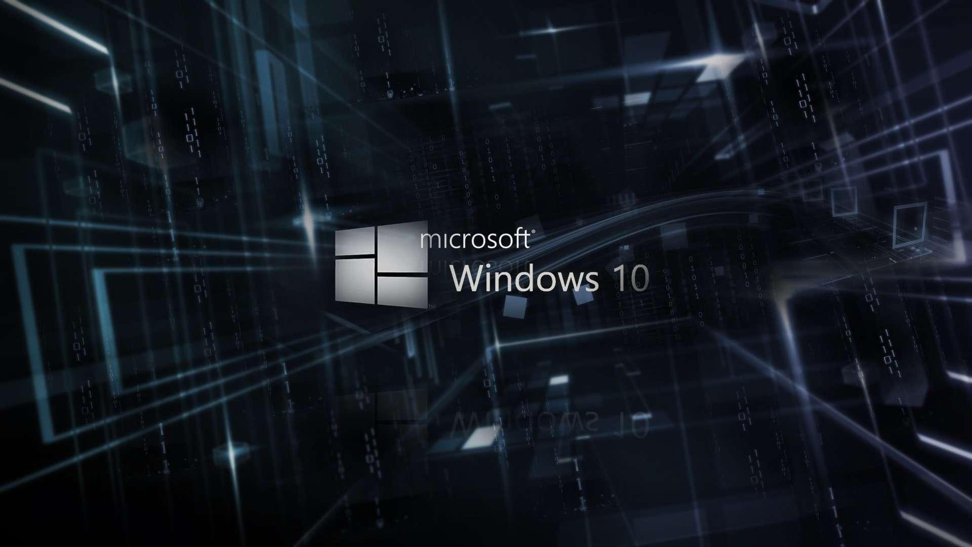 Hd windows 10 wallpaper windows 10 logo hd 1920x1080 for Window 10 wallpaper
