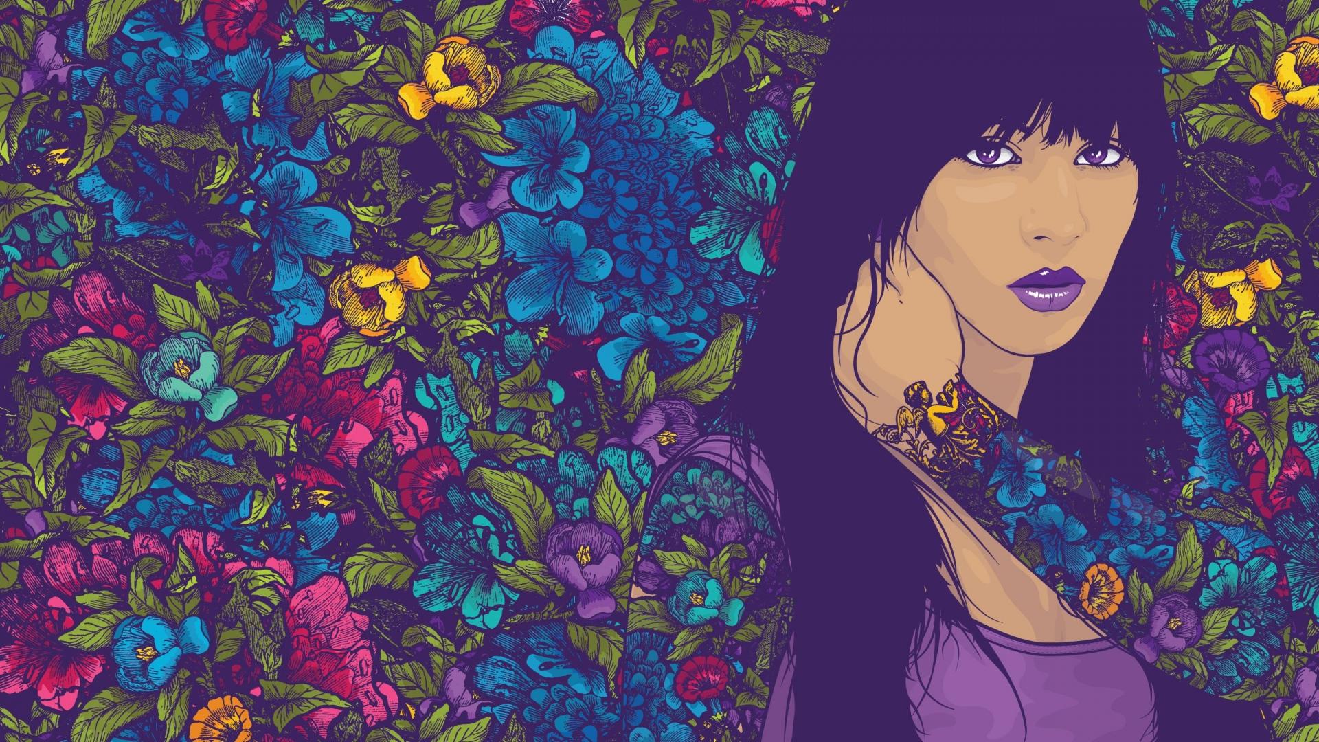 Love Wallpaper Painting : Tattoo Studio Windows 10 Wallpaper - Vector HD 1920x1080 ...